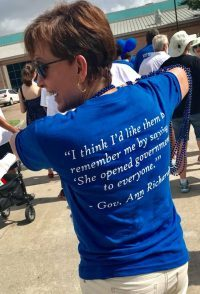 Ann Richards' quote on T-Shirts